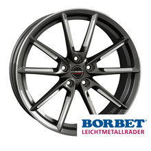 Borbet LX graphite spoke rim polishedac